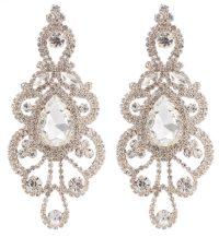 Large Rhinestone Teardrop Chandelier Crystal Earrings at ...