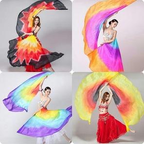 Belly Dance Silk Fan Veils, Belly Dance Silk Fans - Belly ...