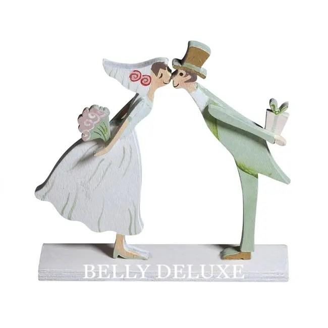 Holzdeko Hochzeitspaar  Belly Deluxe