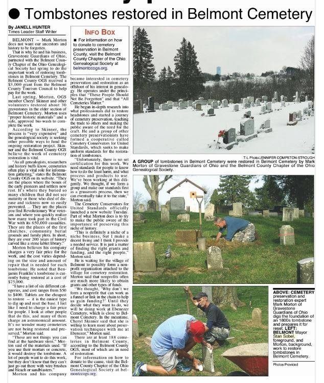 Belmont Cemetery Preservation