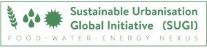Sustainable Urbanisation Global Initiative (SUGI) Food-Water-Energy Nexus Logo - Source: [Author Unknown]. SUGI Nexus Logo. Digital Image. [Source Unknown], [Date Published Unknown]