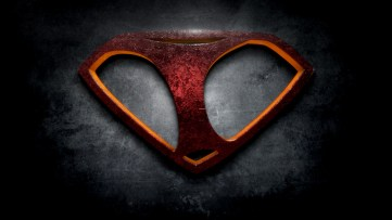 """The letter I in the style of """"Man of Steel"""""""