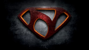 "The letter N in the style of ""Man of Steel"""