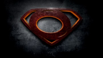 """The letter O in the style of """"Man of Steel"""""""
