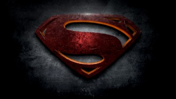 "The letter S in the style of ""Man of Steel"""