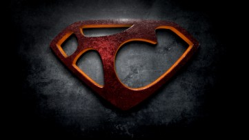 "The letter T in the style of ""Man of Steel"""