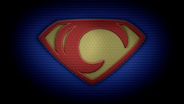 "The letter C in the style of ""Man of Steel"" - color texture version"