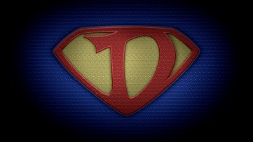 """The letter D in the style of """"Man of Steel"""" - color texture version"""