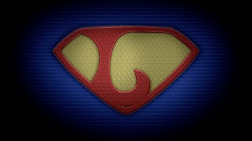 "The letter L in the style of ""Man of Steel"" - color texture version"