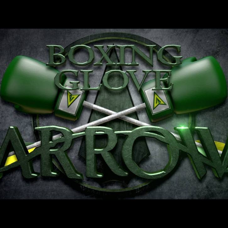Boxing Glove Arrow Title