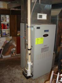 High Efficiency Gas Furnace Installation