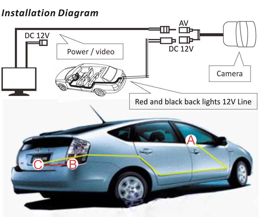 small resolution of reverse camera installation diagram