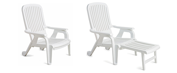 pull out chairs svan high chair cushion bahia stacking and reclining deck belson outdoors model 9841503 with footrest
