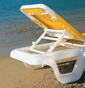 marina sling chaise lounges pool