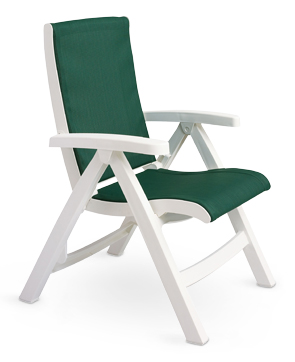 folding chair green fisher price space saver high recall jersey midback deck with attached sling resin chairs model ct089004 hunter white