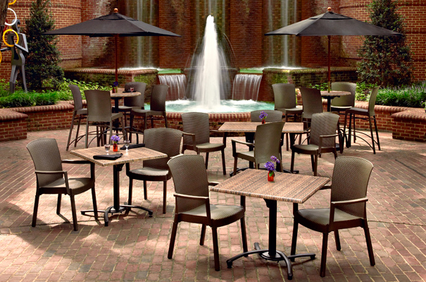 heavy duty resin patio chairs farmhouse dining espresso bar height tables and | café furniture belson outdoors®