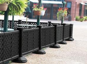 portable decorative patio fence cafe