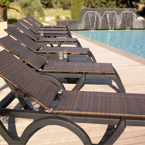 Java AllWeather Resin Adjustable Chaise Lounges  Belson