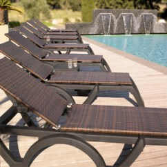 Resin Lounge Chair Outdoor Covers Bunnings Java All Weather Adjustable Chaise Lounges Belson Outdoors Model Us465237 Wicker Espresso Bronze Frame