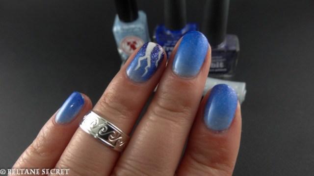 HPB Linkup April Showers Nail Art