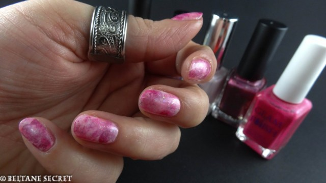 Nail Art Rose Eponge
