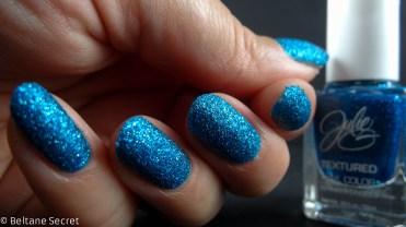 vernis texturé bleu