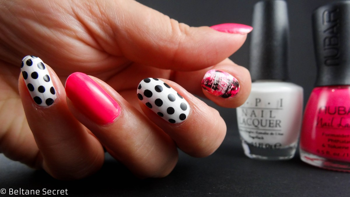 Mix & Match Neon Graphic Distressed Nail Art