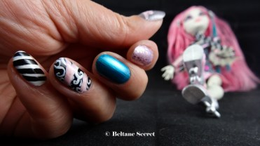 Nail Art Monster High Rochelle Goyle-6