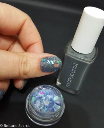 Nail Art Vitrail Glass Nails Manucurist Gris n1-10