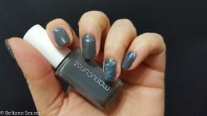 Nail Art Vitrail Glass Nails Manucurist Gris n1-7