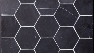 "Beltile Eastern Black Marble Hexagon 4"" Honed 4"