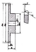 4SR12 08B-1 12 Tooth Simplex Pilot Bore Sprocket [CS4SR12