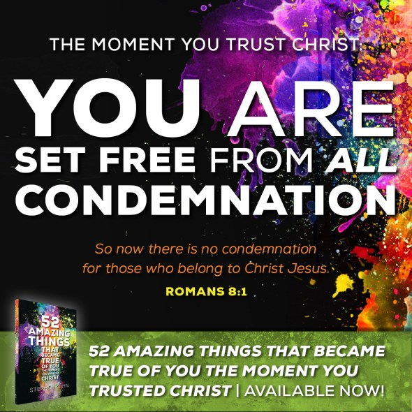 You are set free from all condemnation