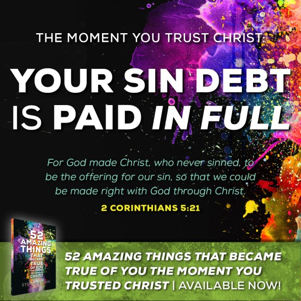 """For God made Christ, who never sinned, to be the offering for our sin, so that we could be made right with God through Christ (2 Corinthians 5:21)."