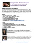 Raising Orchids: Practical Strategies for Parents of Children with Learning Differences and Special Needs; 6 Week Class