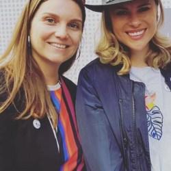 Eliana Albasetti junto a Marcia Lühr de Bemark Comunicaciones