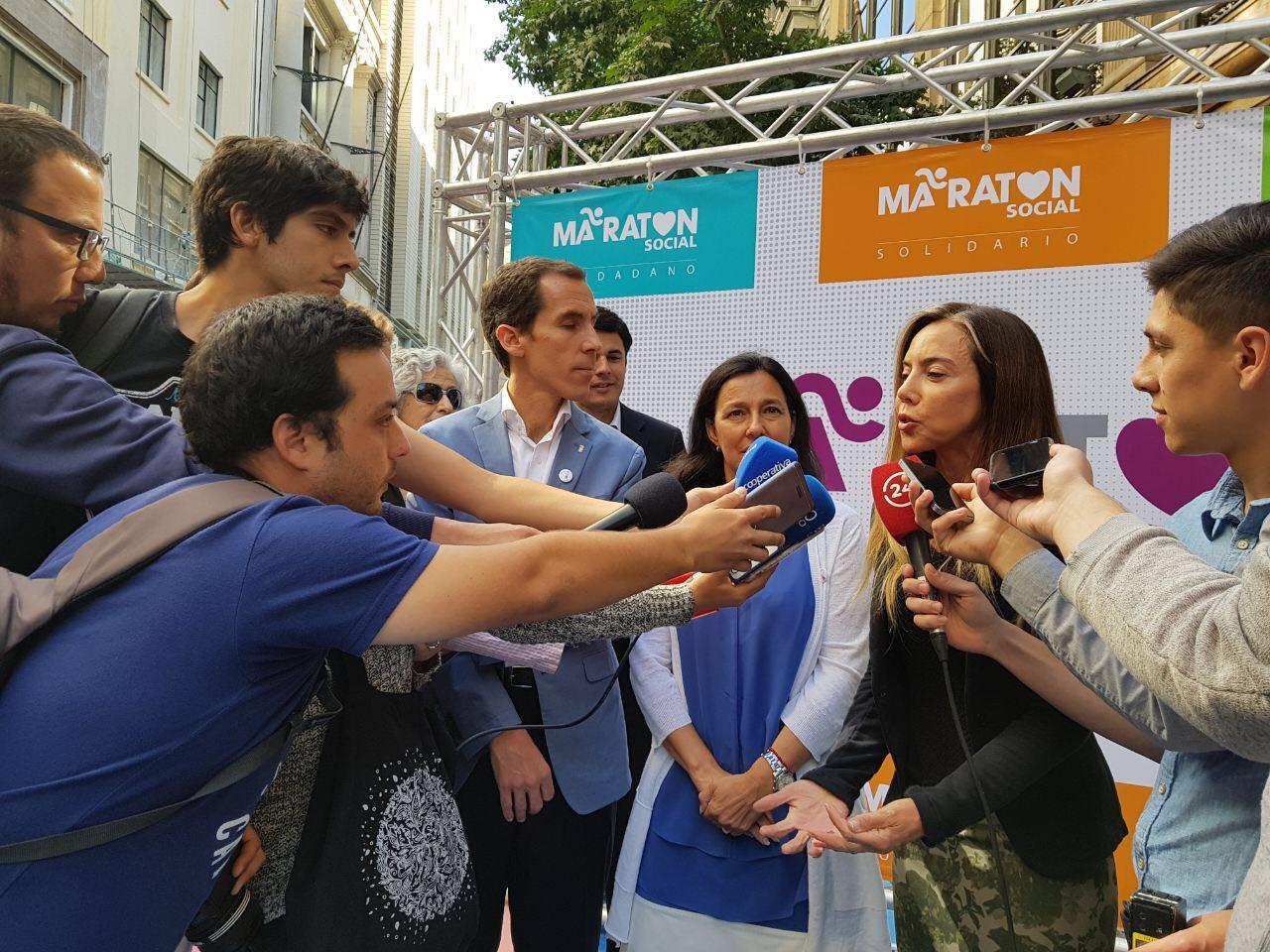Punto de Prensa en evento Maratón de Santiago 2018