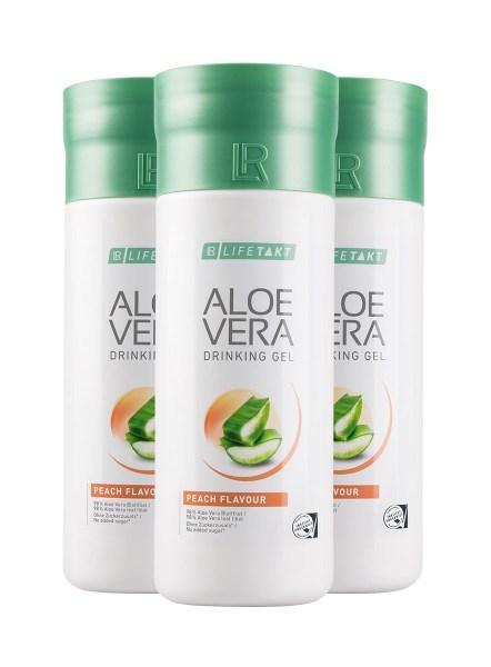LR LIFETAKT Aloe Vera Drinking Gel Peach Flavour | Aloë Vera Drinking Gel Perzik - Set van 3