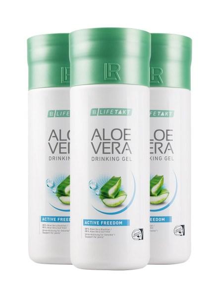 LR LIFETAKT Aloe Vera Drinking Gel Active Freedom | Aloë Vera Drinking Gel Freedom Set - Set van 3
