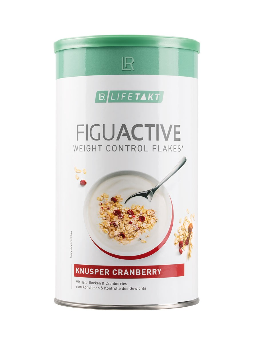 LR LIFETAKT FiguActive Weight Control Flakes Crunchy Cranberry FiguActiv Maaltijdvervanger Muesli Müesli