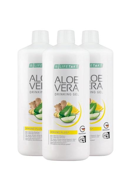 LR LIFETAKT Aloe Vera Drinking Gel Immune Plus - Set van 3