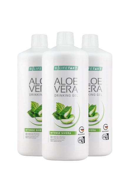 LR LIFETAKT Aloe Vera Drinking Gel Intense Sivera - Set van 3