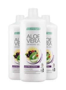 LR LIFETAKT Aloe Vera Drinking Gel Açaí Pro Summer - Limited Edition - Set van 3