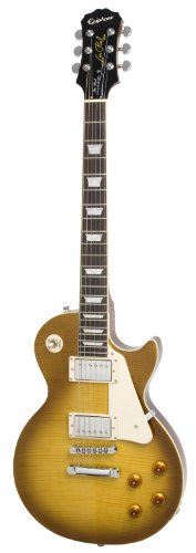 Epiphone Les Paul STANDARD PLUS-TOP PRO Electric Guitar with Coil-Tapping, Honey Burst - Recording Studio - 1