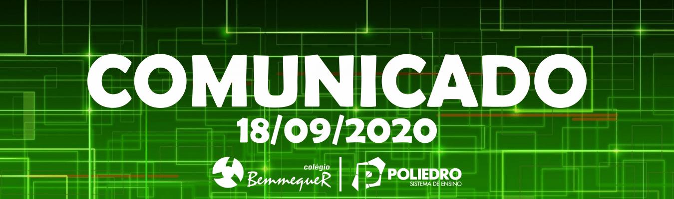 Comunicado 18/09/2020