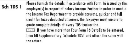 Filling ITR-1 : Bank Details, Exempt Income, TDS Details