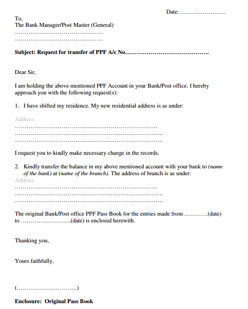Format Of Letter To Bank For Account Closing - Cover Letter Templates