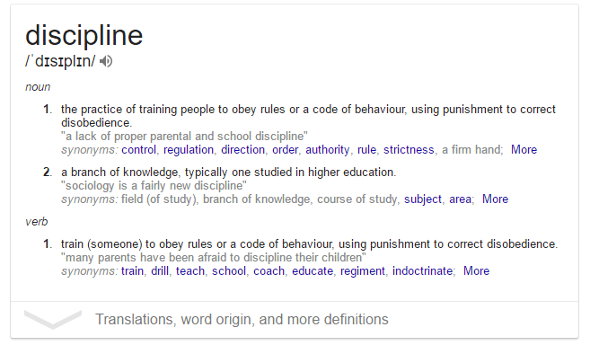 Discipline meaning
