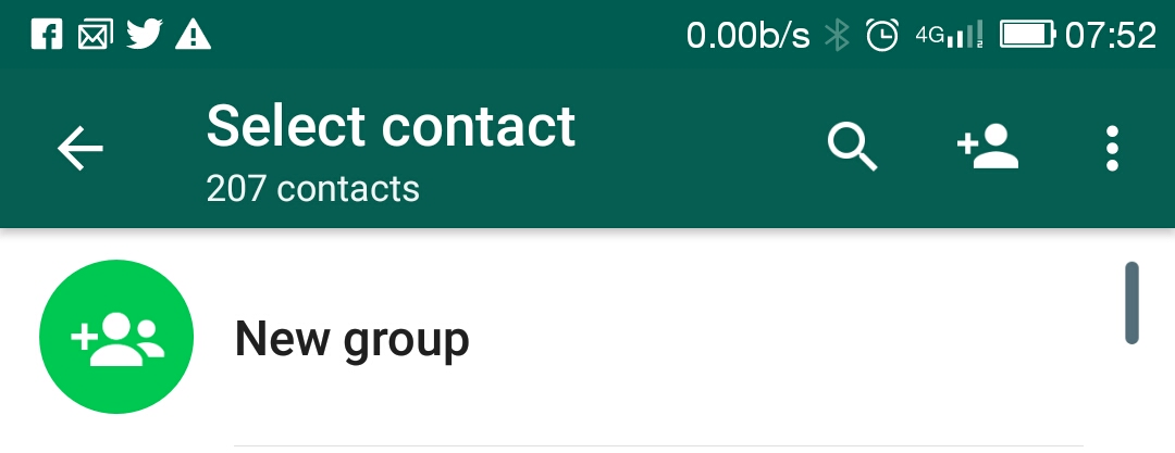 WhatsApp Create Group