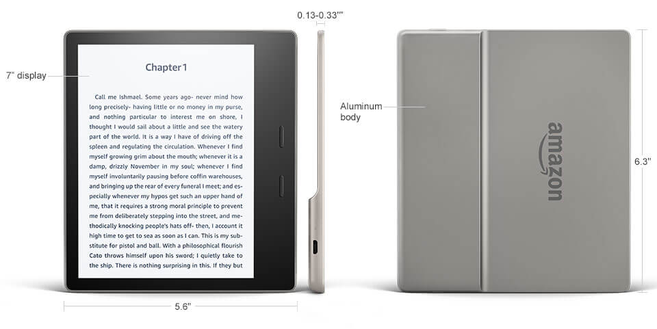Kindle Oasis Technical Specifications
